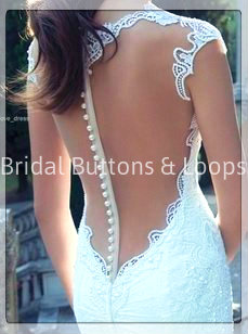 Bridal buttons, button loops
