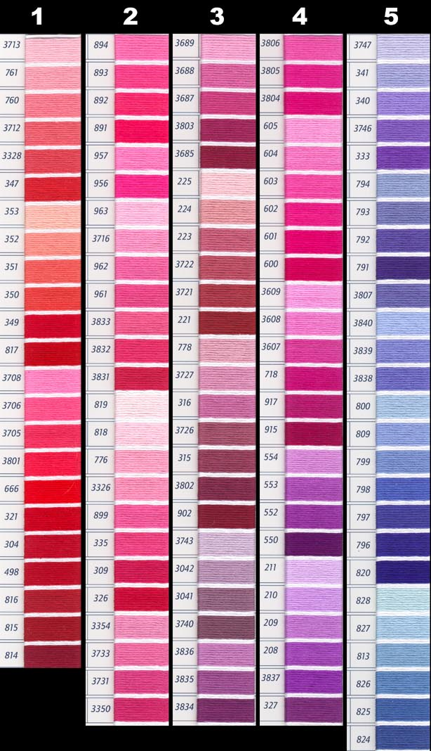 graphic relating to Dmc Floss Color Chart Printable known as DMC Perle Threads Coloration Chart - NAKPUNAR